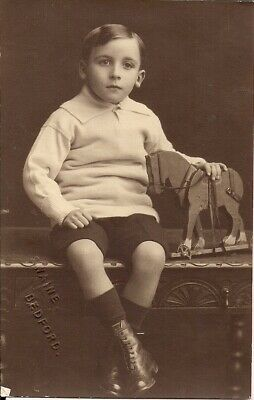 LOVELY POSTCARD SIZE OLD CHILD PORTRAIT by SWAINE of BEDFORD C.1935