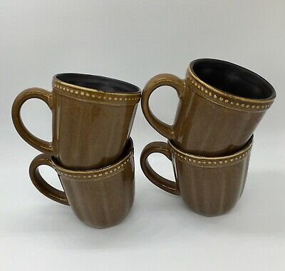 Roscher & Co HOBNAIL NEW HONEY COLLECTION Coffee Mugs set of 4