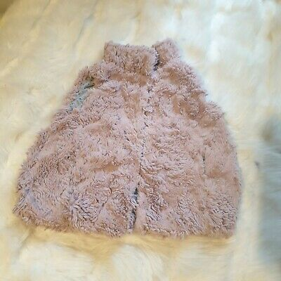 Girls 2-3-4 Years Dusty Pink faux Fur soft Gilet Body Warmer Coat NEXT