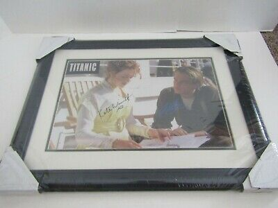 Framed Art Picture Movie Poster Signed Autograph Titanic Winslet & Dicaprio