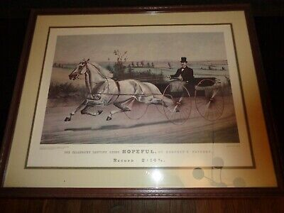 "Currier & Ives The Celebrated Trotting Horse ""Hopeful"" Painted By Scott Leighton"