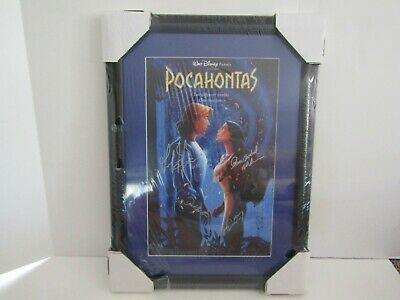 Framed Art Picture Movie Poster Signed Autograph Disney Pocahontas Mel Gibson