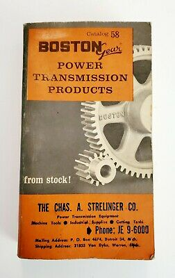 Vintage Boston Gear Works Power Transmission Products Catalog No. 58 1963