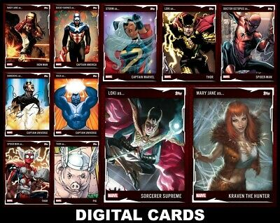 Topps Marvel Collect OUT OF CHARACTER COSTUMES [11 CARD RED SET] Spider-Man+++