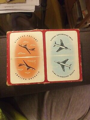 Vintage playing cards Vickers.