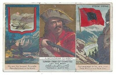 Duke Governors, Coat of Arms, Flags Cigarette Card - A Montana Cowboy