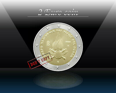 ITALY 2 EURO 2020 ( National Fire Department ) Commemorative 2 euro Coin * UNC