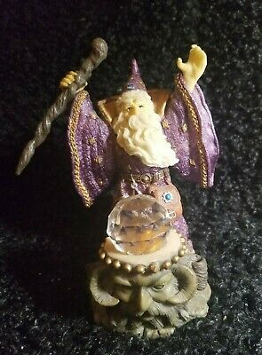 Wizard And Spell Medieval Legend Collectible Figurine