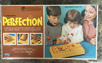 Vintage Perfection 1975 Lakeside Timer Board Game Family Almost Complete - Desc.