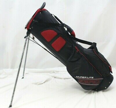 New Callaway Hyper Lite Zero DBL 4-Way Stand Carry Golf Bag Black Red White