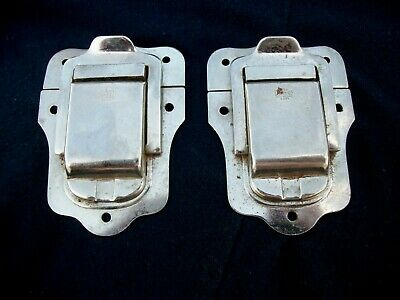 Vintage Pair Excelsior Cabinet Steamer Trunk Latch Lock  Made in USA