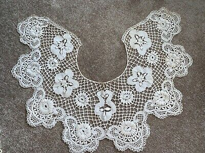 Antique Bobbin Lace Bertha Collar or Shawl..WEDDING Ivory  Color, Collector