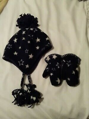 Girls Cosy Next hat and gloves set Age 1-2 Yrs **good condition**