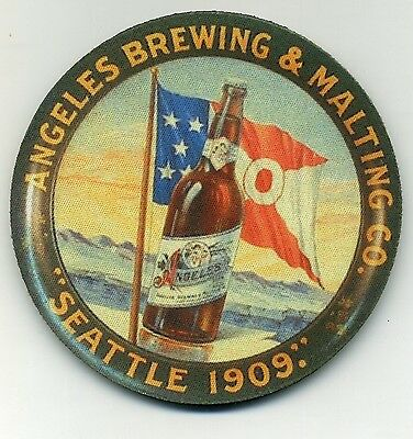 Angeles Brewing and Malting Co - Beer Coaster - Seattle 1909