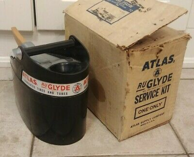 VINTAGE Original NOS Gas Station ATLAS Tire Rubber Service Kit Tool Box w Box !
