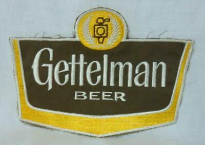Gettelman Beer Uniform Truck Driver's Shirt Jacket Patch