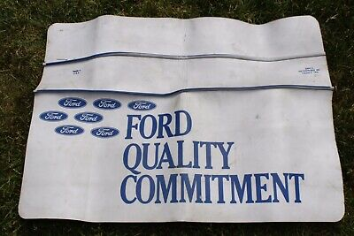 Vintage Eppco Ford Quality Commitment Mechanics Fender Cover Accessory Blue Oval