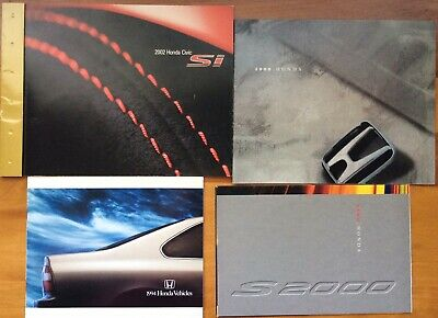 Large Lot Of Honda Automobile Brochures, Accessories, S2000, Civic si, Full Line