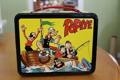 1964 Vintage Popeye metal Lunch Box with Thermos bottle