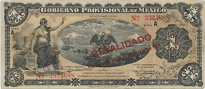 Mexico Revolutionary Papermoney, P-S701 1914 1 Peso Circulated Banknote