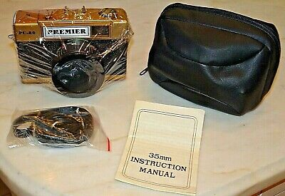 Vintage Premier PC-80 35mm Point & Shoot Film Pocket Camera + Case NEW IN BOX