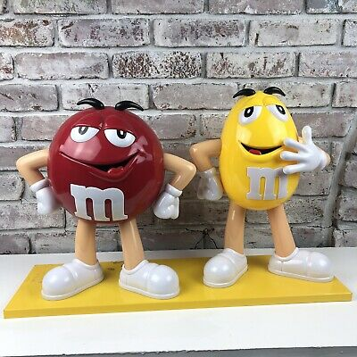 RED Yellow Peanut M&M Character Store Display Greeter
