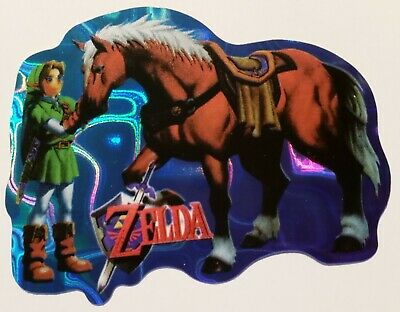 ZELDA--NEW--Vintage (1997) NINTENDO--Prismatic Vending Machine Sticker (#482)