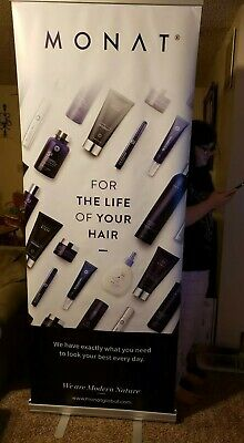 Monat Hair Care Retractable Banner Sign Portable Display Stand Very Large