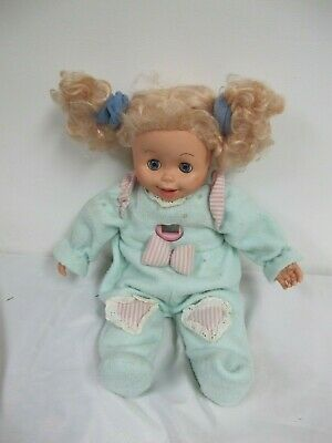 Vintage Amazing Amy Doll 1998 Playmates With  Green Pink Sleeper