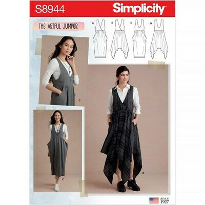 Simplicity Sewing Pattern 8944 Misses 6-24 Dresses Pinafores The Artful Jumper