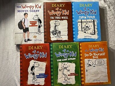 Diary of a Wimpy Kid Collection 6 Books Set by Jeff Kinney (all hardcovers)