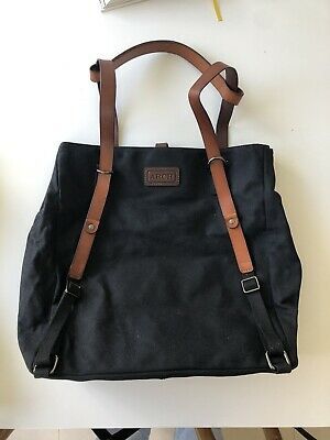 ARCH black baby bag with change mat Brand New