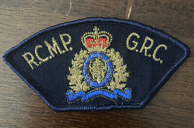 Royal Canadian Mounted Police Patch - RCMP GRC - (1980's)
