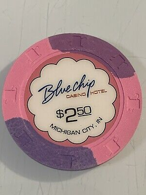 BLUE CHIP CASINO $2.50 Casino Chips INDIANA 3.99 Shipping