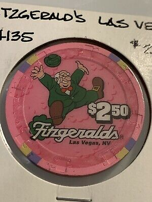 FITZGERALDS $2.50 Casino Chip Las Vegas Nevada 3.99 Shipping