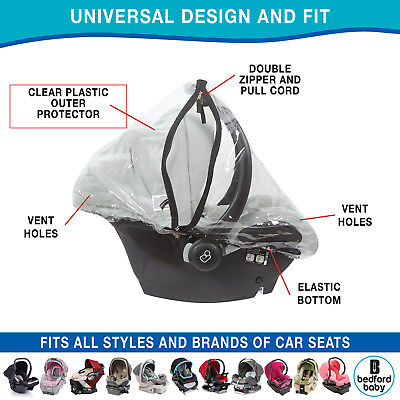 Infant Carrier Car Seat,& Doona  Rain & Weather Sheild Plastic Cover With Zipper