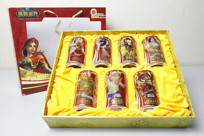 2005 Coca Cola 7 cans boxed set from China, World of Warcraft