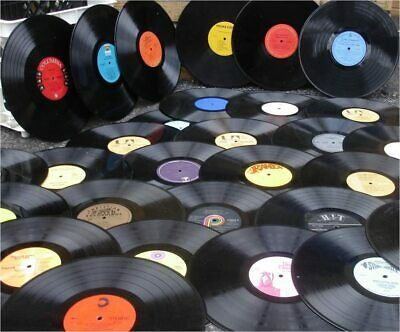 Job Lot 10 x 12'' LP Vinyl Records - Upcycling, Craft Projects FREE DELIVERY