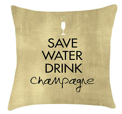 DRINK CHAMPAGNE Mum Sister Friend Auntie SAVE WATER Funny Handcrafted Plaque