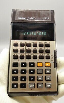 Calculadora scientific Casio Fx-140, vintage, año de lanzamiento - 1978