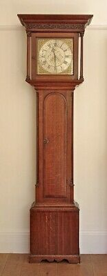 Good Original 30-hour Oak Longcase Grandfather Clock by William Snow, Padside.