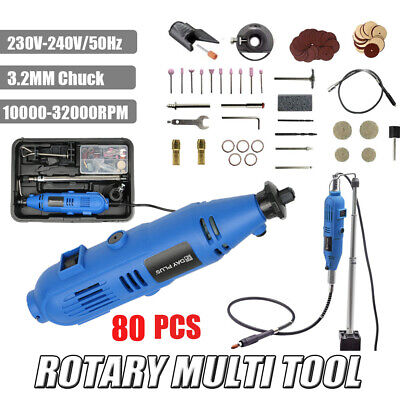Dayplus Rotary Drill Multi Tool Grinder Kit Set Accepts Dremmel Accessories 230V