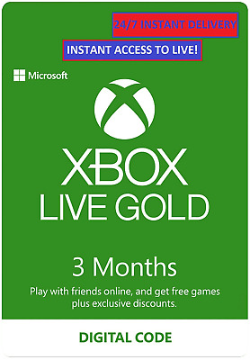 XBOX LIVE 3 MONTH GOLD MEMBERSHIP Code Key XBOX 360/ONE GLOBAL- INSTANT DELIVERY