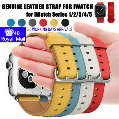 Genuine Leather Watch Strap Replacement Band For Apple Watch 5/4/3/2 38-44MM
