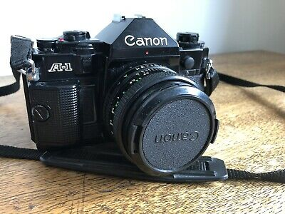 Canon A-1 35mm SLR Film Camera With 50mm Canon Lens
