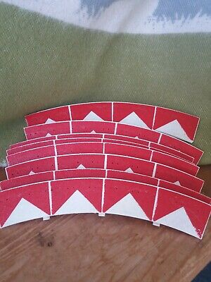 8 Classic Scalextric Curved Red & White Chevron Borders.