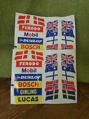 2, Sheets Of Classic Scalextic Decals.