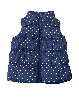 Baby Gap Girls Navy Blue Spotty Body Warmer Age 3 Years
