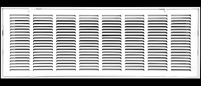 """30"""" X 14 Steel Return Air Filter Grille For 1"""" Filter - Fixed Hinged - Ceiling R"""