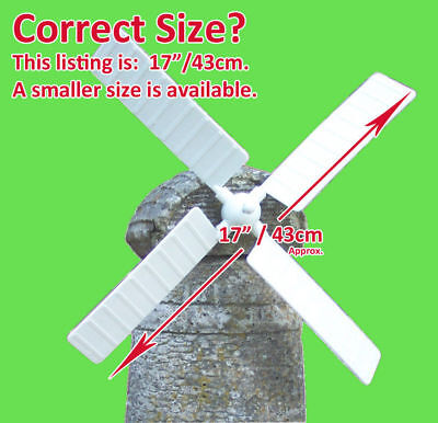 "Garden Windmill Sails / Blades For Stone Ornament. 17"" Diameter. Ref: Giant"